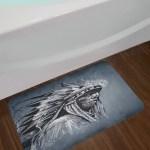 Hand Gray Native American Bath Rug