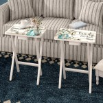August Grove Jimmy Forever Home 2 Piece Tray Table Set Reviews Wayfair