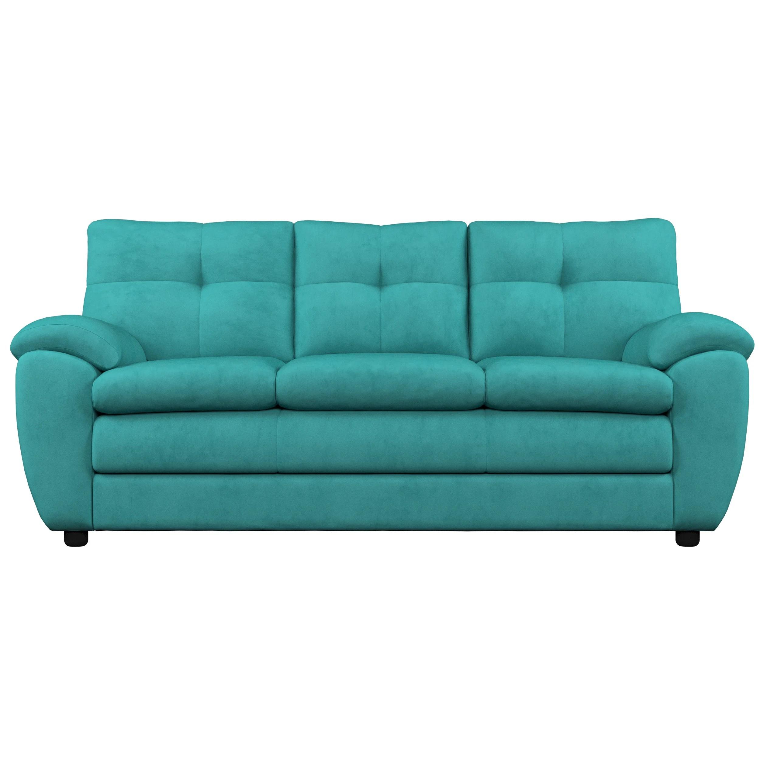 beneduce microfiber 84 w pillow top arm sofa