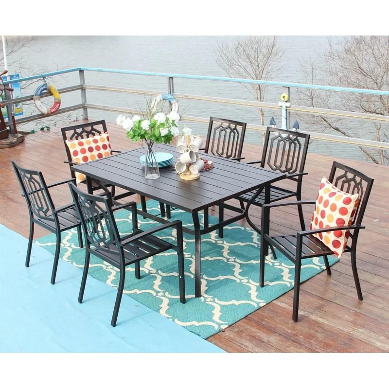 rectangular 6 person 60 long dining set