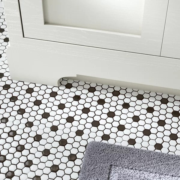 mosaic black and white tile