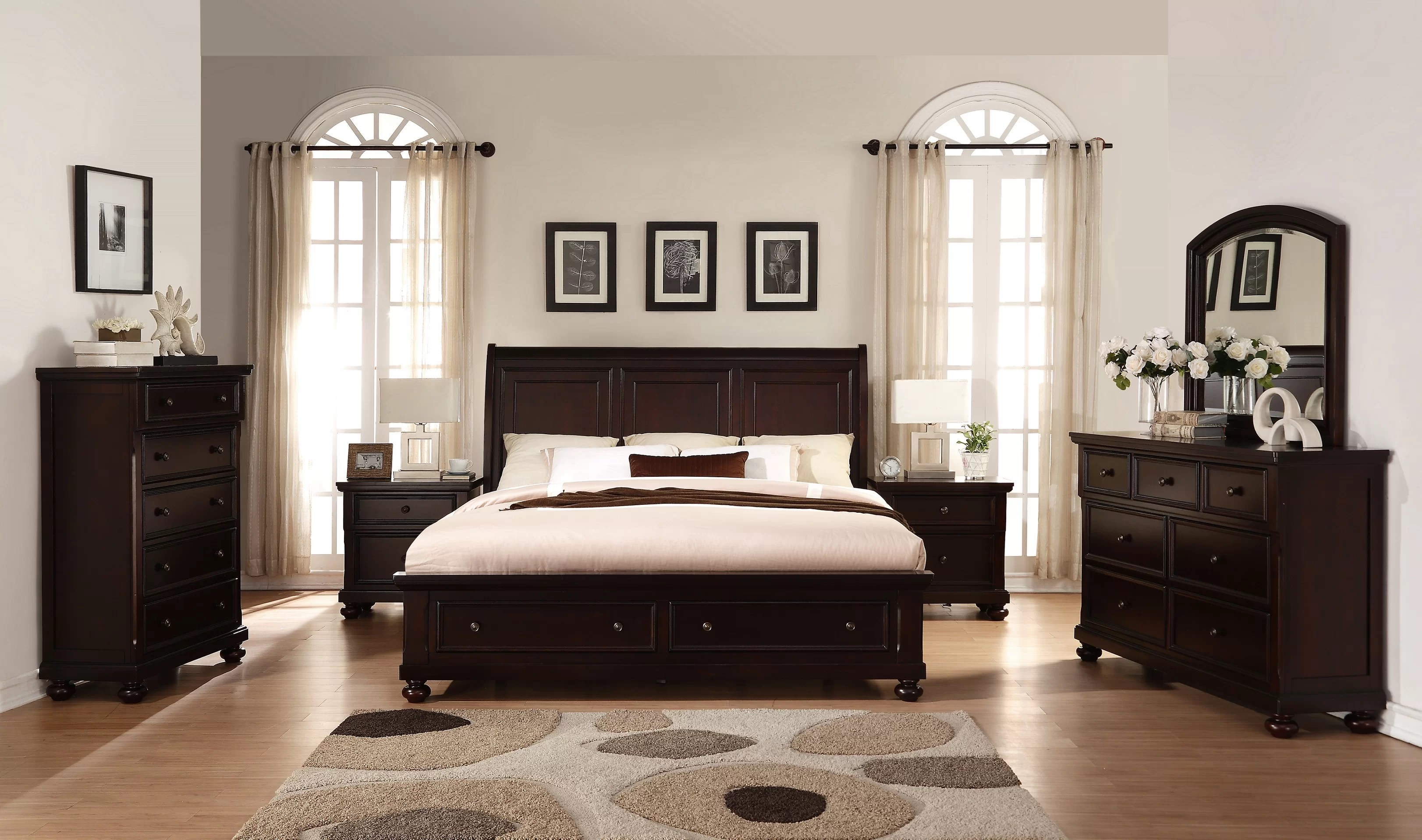 jaimes queen platform solid wood 6 piece bedroom set