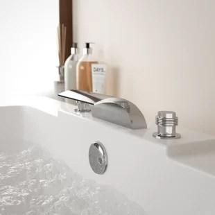 double handle deck mounted roman tub faucet