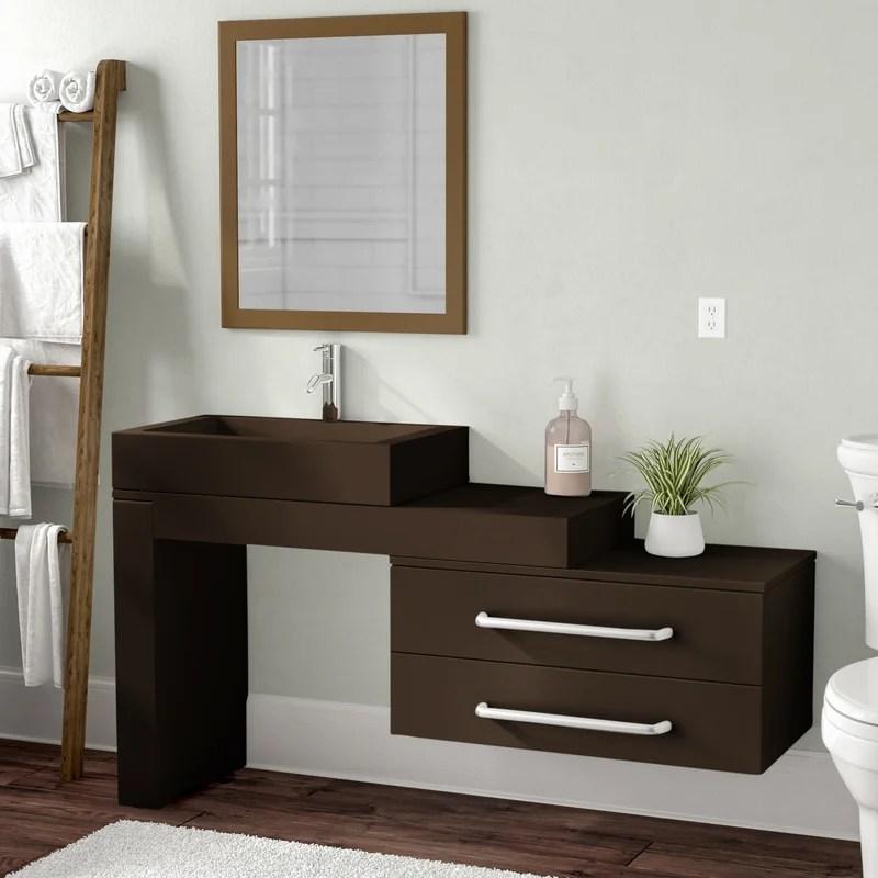 hulbert 45 wall mounted single bathroom vanity set
