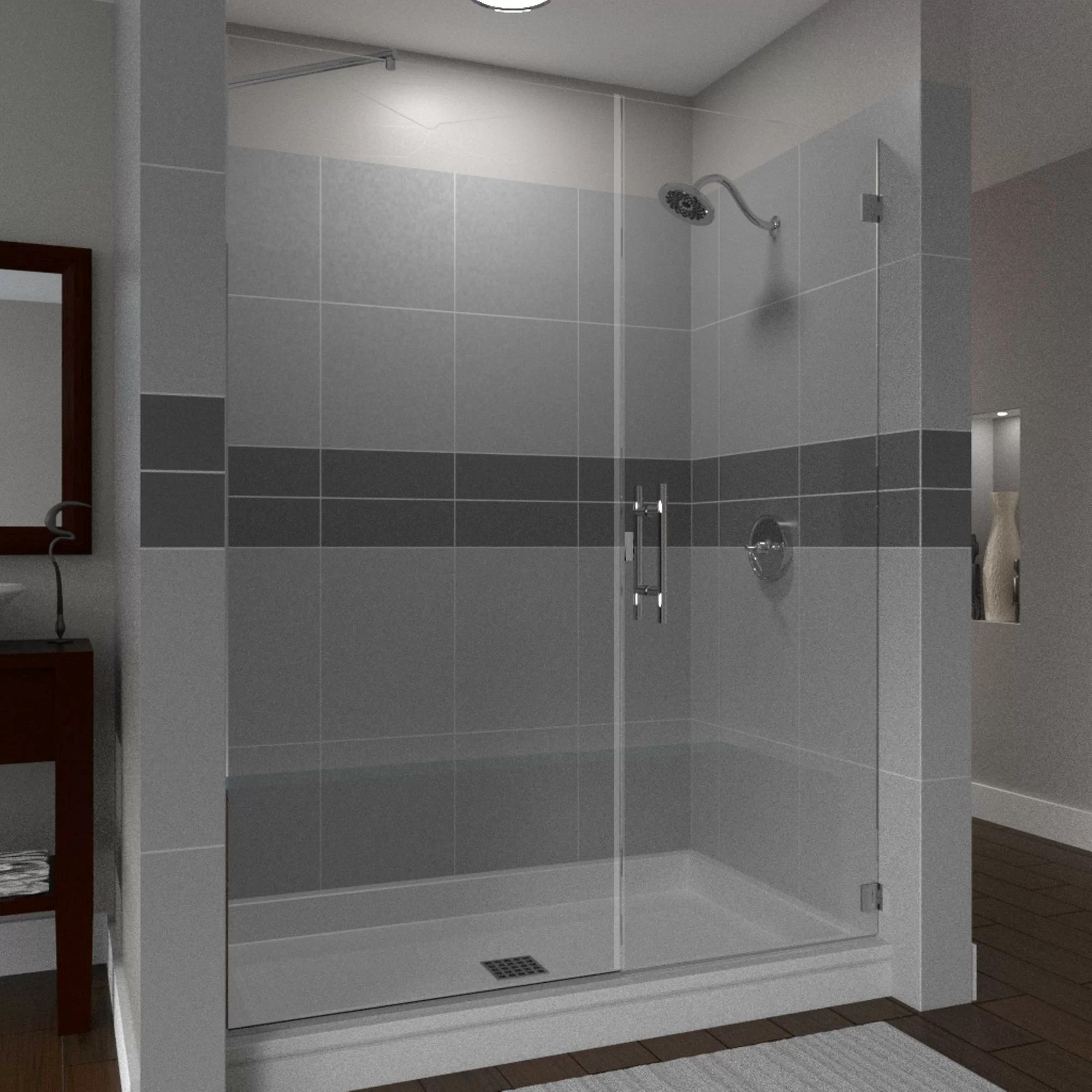 Scottsdale 31 X 72 Hinged Frameless Shower Door With Invisible Shield By Clean X