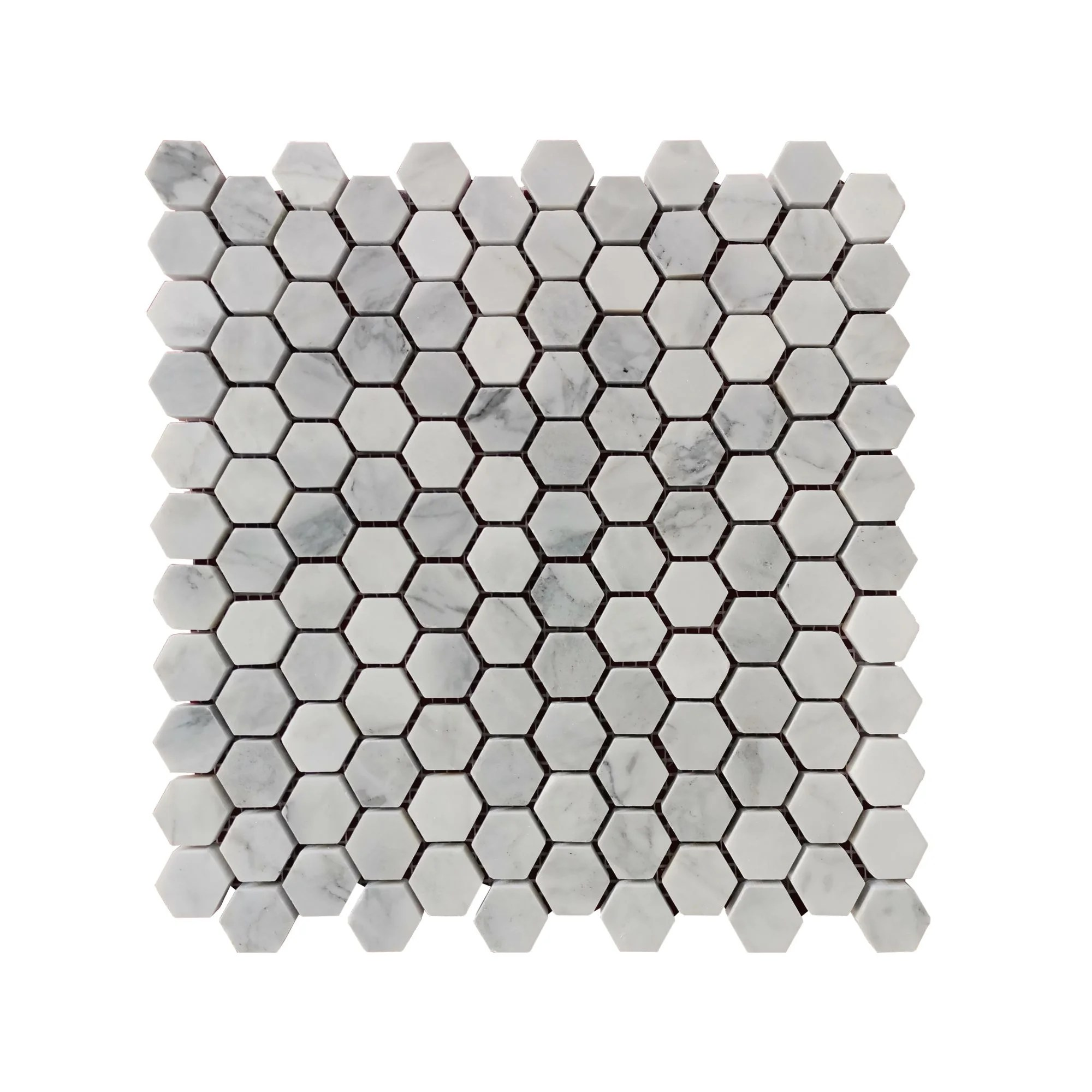 marble honeycomb mosaic subway wall floor tile