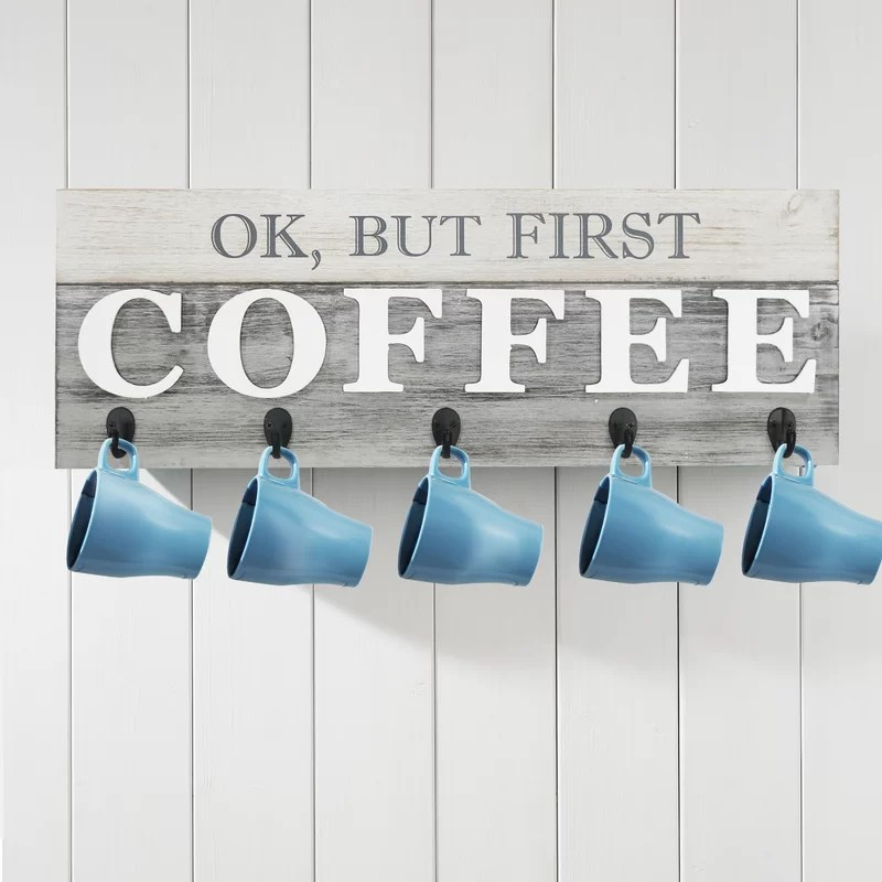 Ok But First Coffee Wall Decor