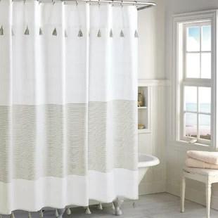 campanella 100 cotton striped single shower curtain