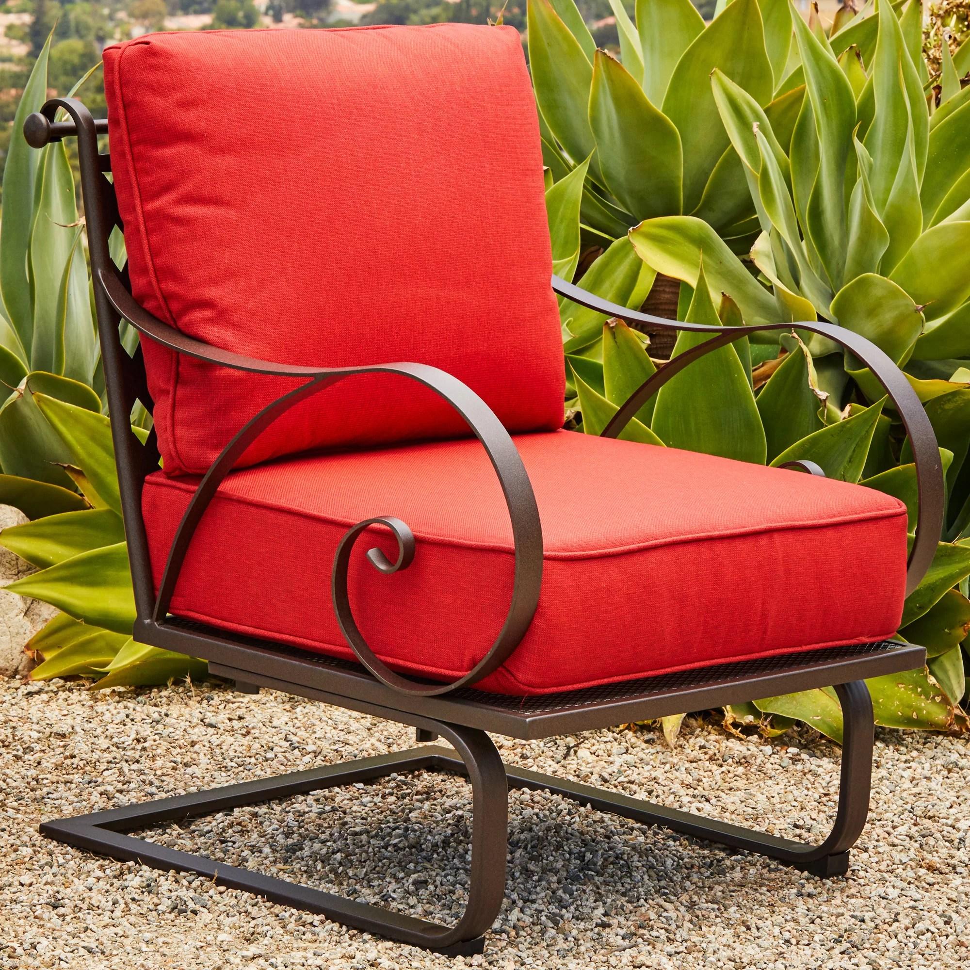 fleur de lis living pettigrew patio chair with cushions reviews wayfair