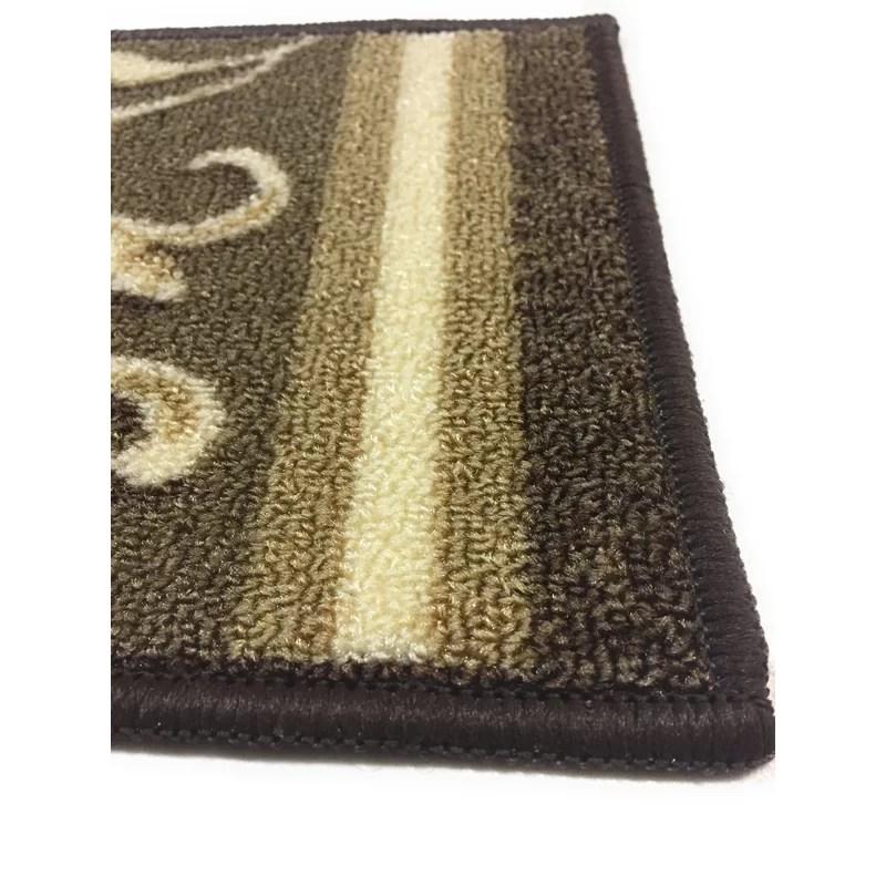Fleur De Lis Living Weinert Non Slip Carpet Stair Tread Reviews | Non Slip Stair Treads Carpet | Self Adhesive | Slip Resistant Rubber Backing | Step | Semi Circle | Adhesive Padding