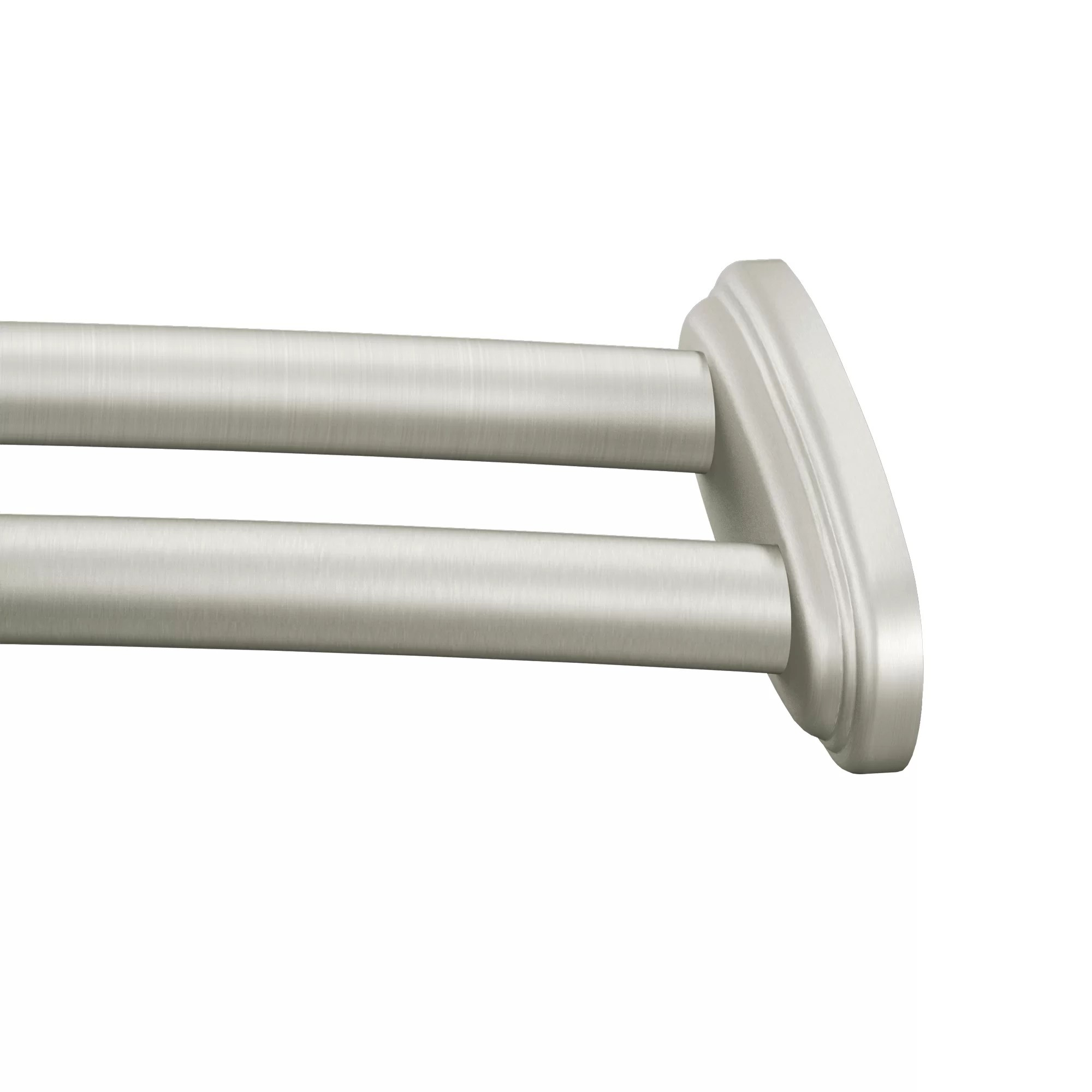 60 Curved Adjustable Shower Curtain Rod