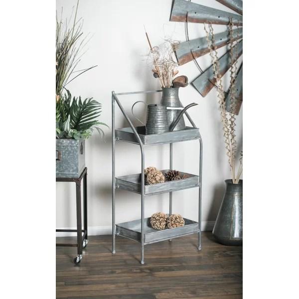 osterley 39 h x 18 w x 11 d 3 tiered patio shelf