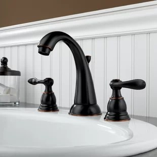 windemere widespread bathroom faucet with drain assembly