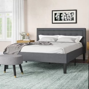 pinheiro tufted upholstered platform bed