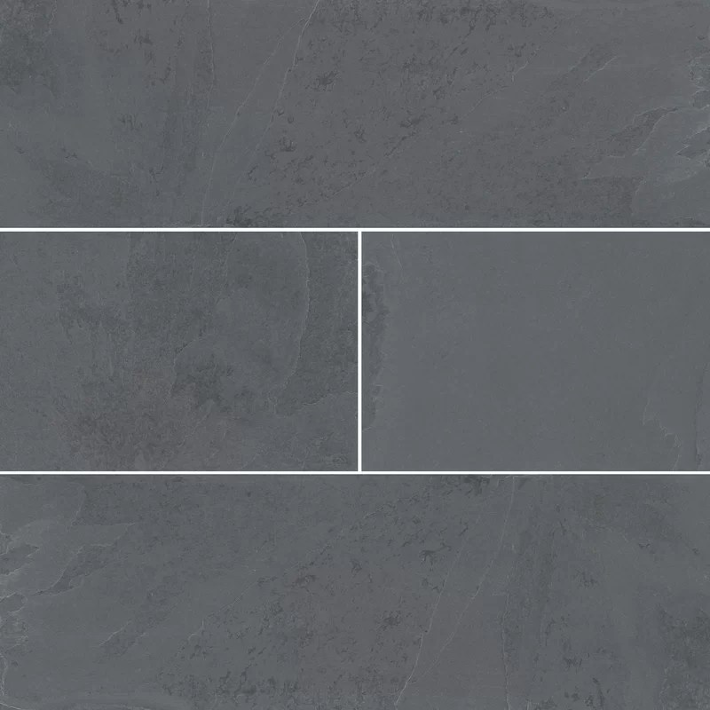 black and gray montauk 6 x 24 natural stone look floor use tile