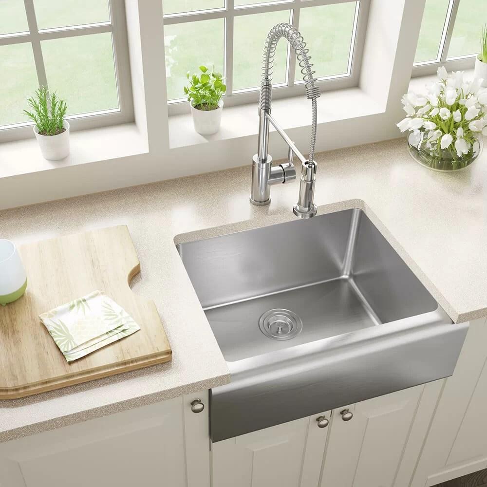 stainless steel 24 x 20 farmhouse apron kitchen sink