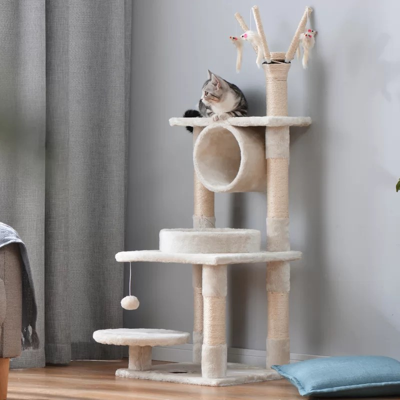Archie Oscar 124cm Cardenas Cat Tree Wayfair Co Uk