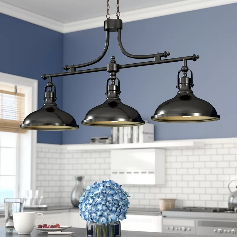 martinique 3 light kitchen island dome pendant