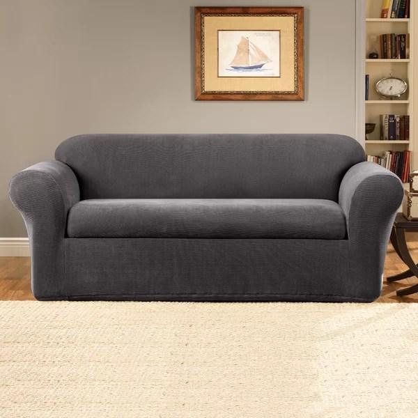 2 piece sofa slipcover