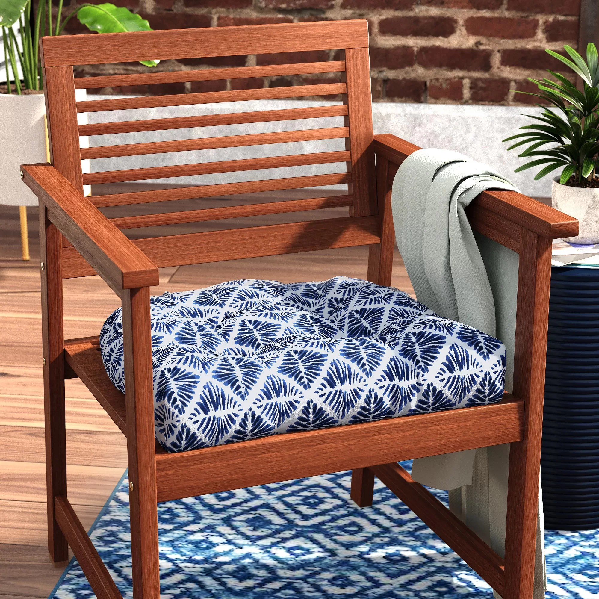 Rehoboth Indoor Wicker Dining Chair Cushion