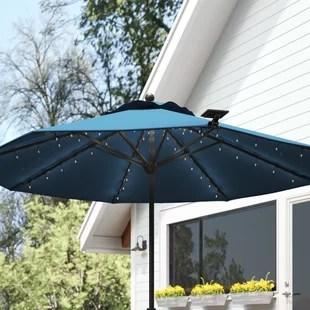 barna solar umbrella lighting