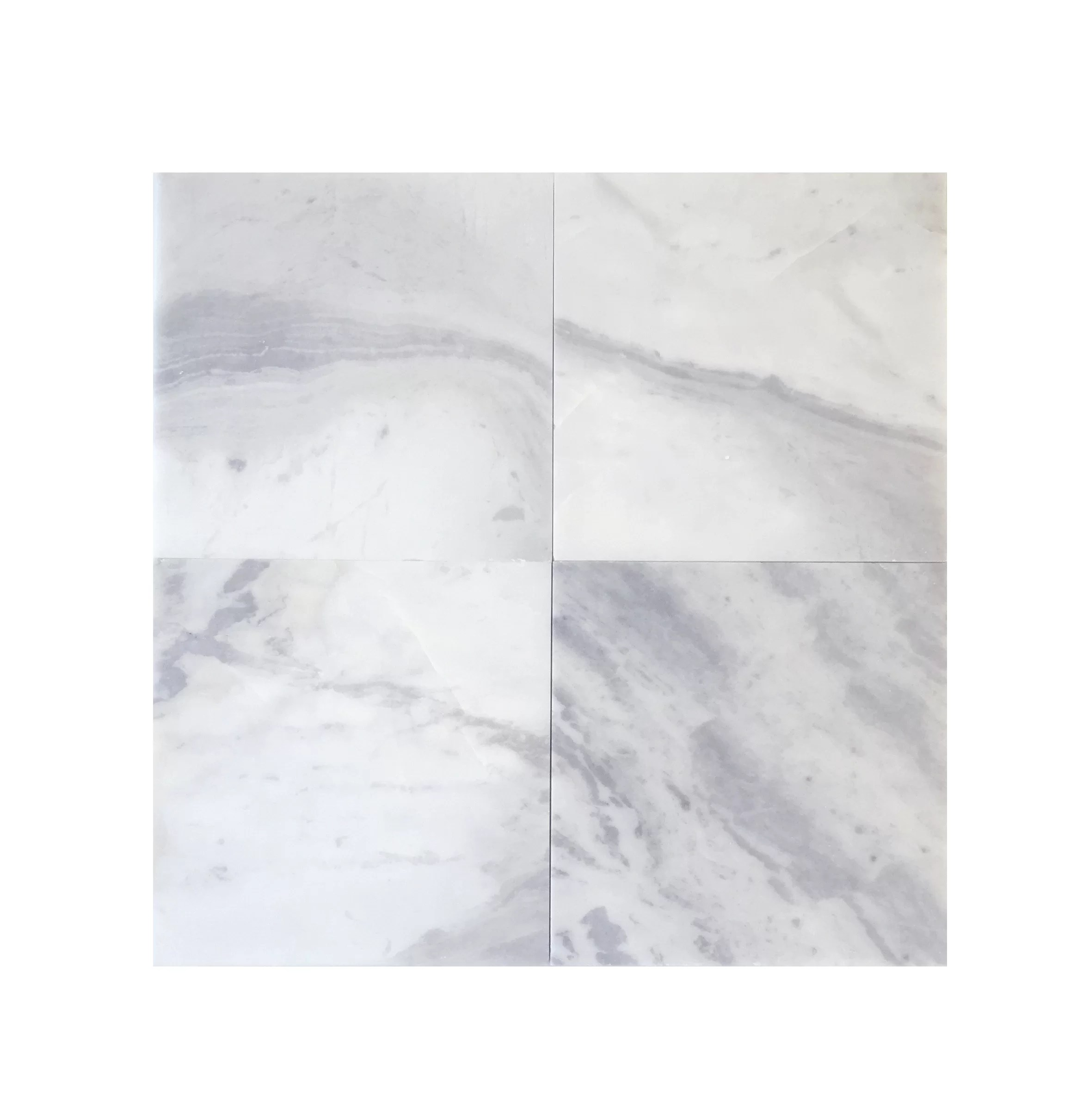 6 x 6 marble field tile in blue argentino