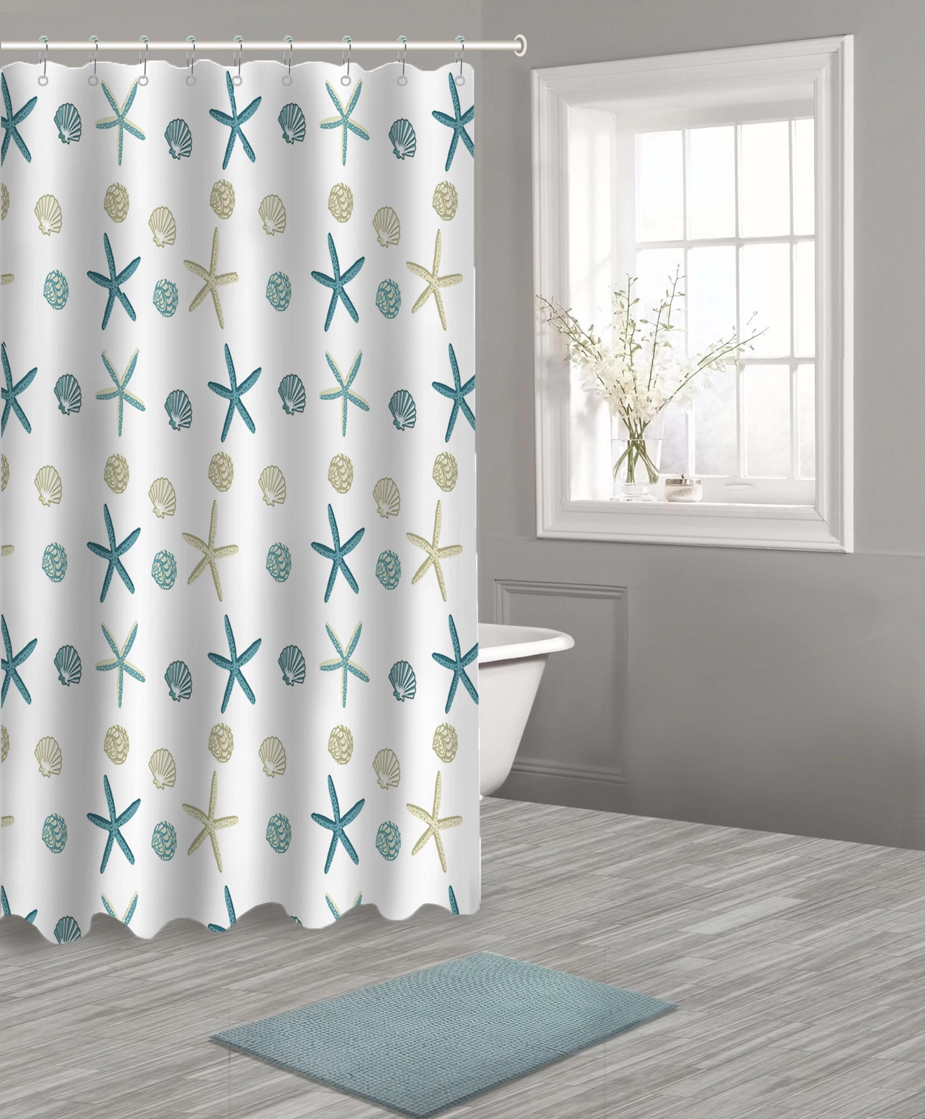 otteridge peva 14 piece shower curtain set hooks