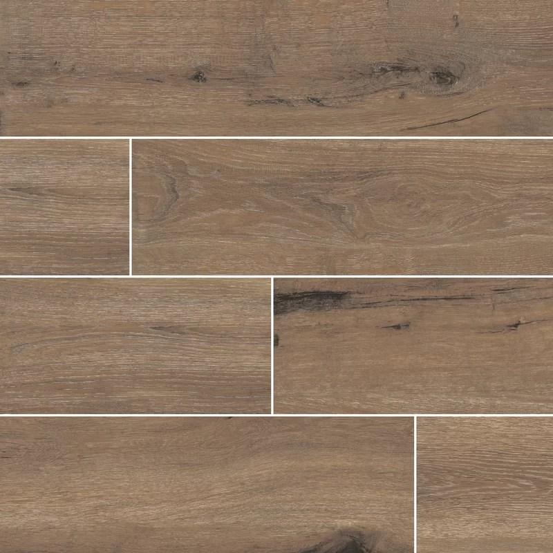 antoni 6 x 36 porcelain wood look wall floor tile