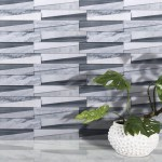 Seagull Mosaic Modern 6 X 24 Marble Stacked Stone Tile