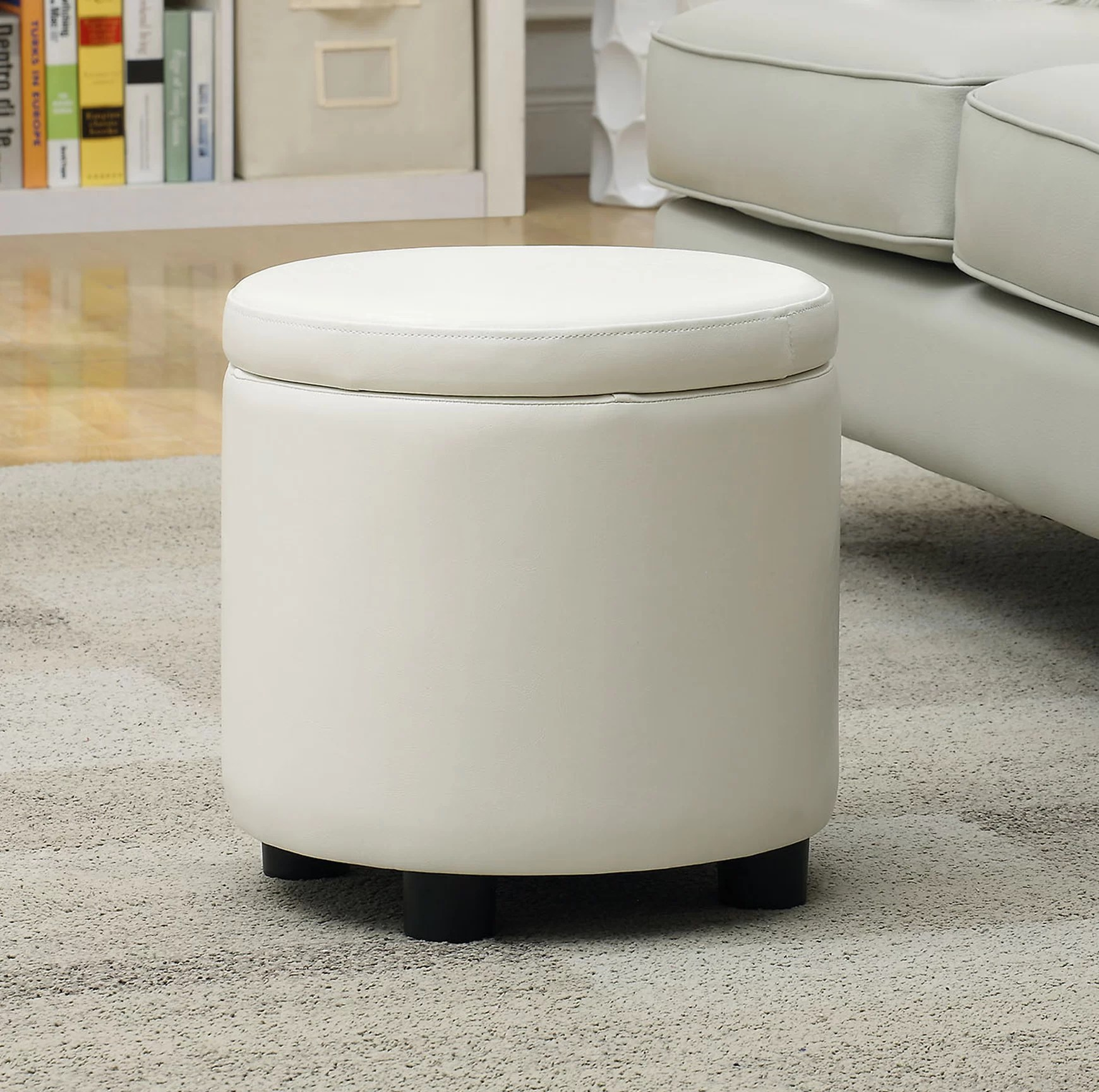 white ottomans poufs you ll love in