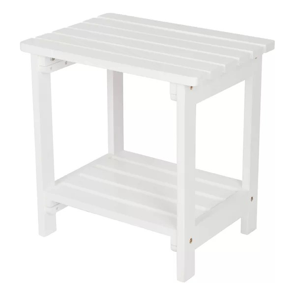 farmhouse rustic white outdoor side