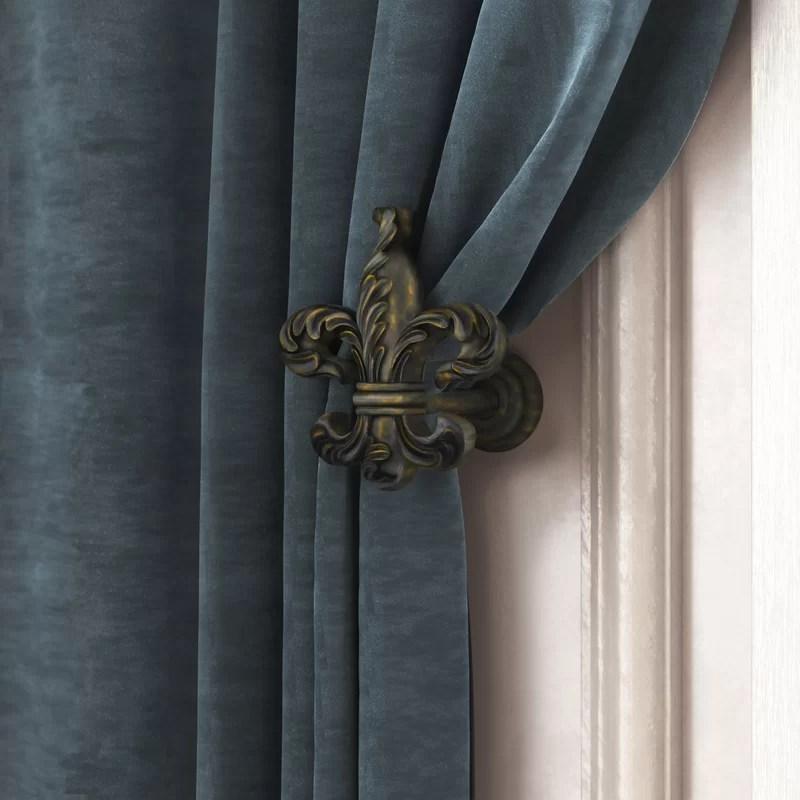 mithchell fleur de lis medallion curtain holdback