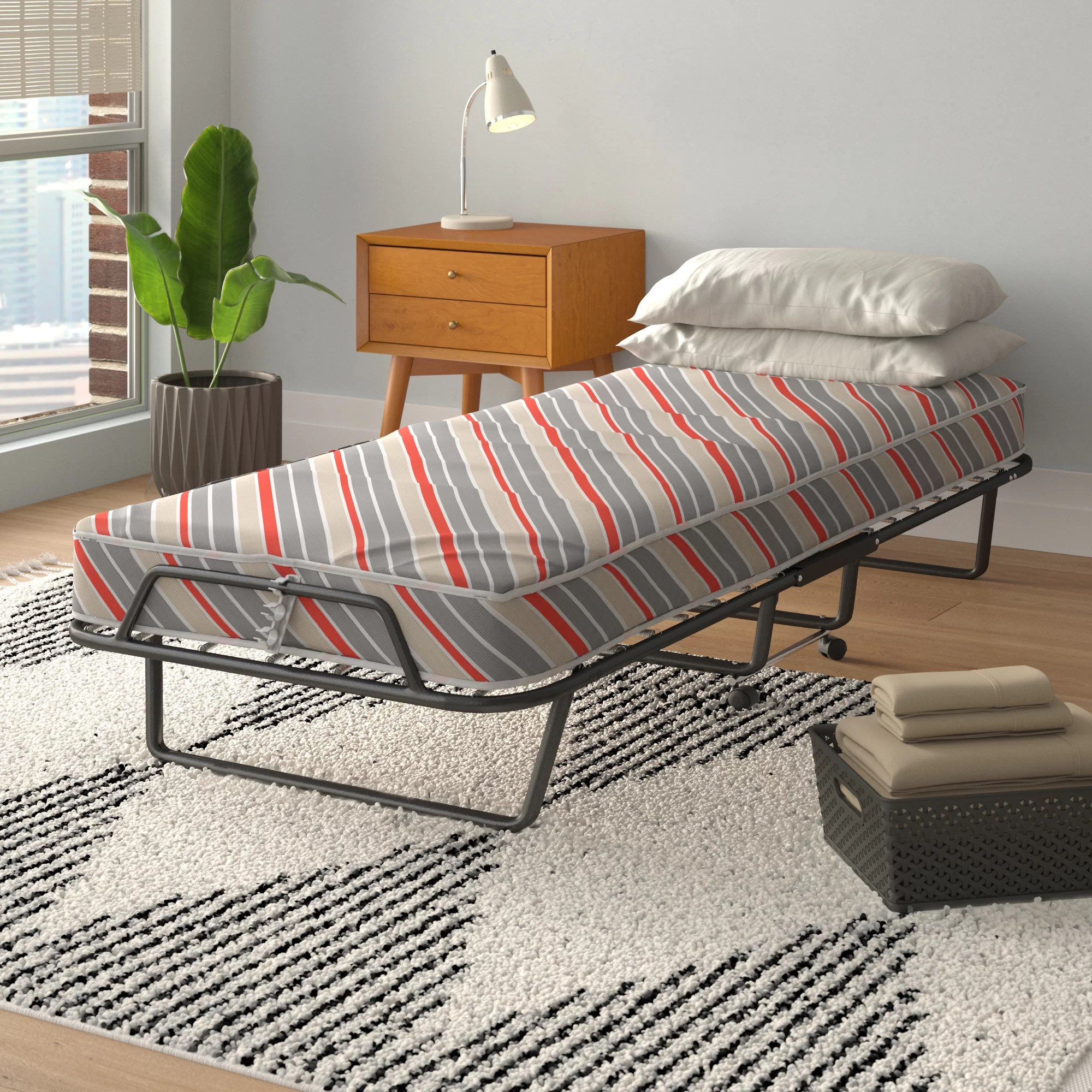 Alwyn Home Arely Black Folding Bed Reviews