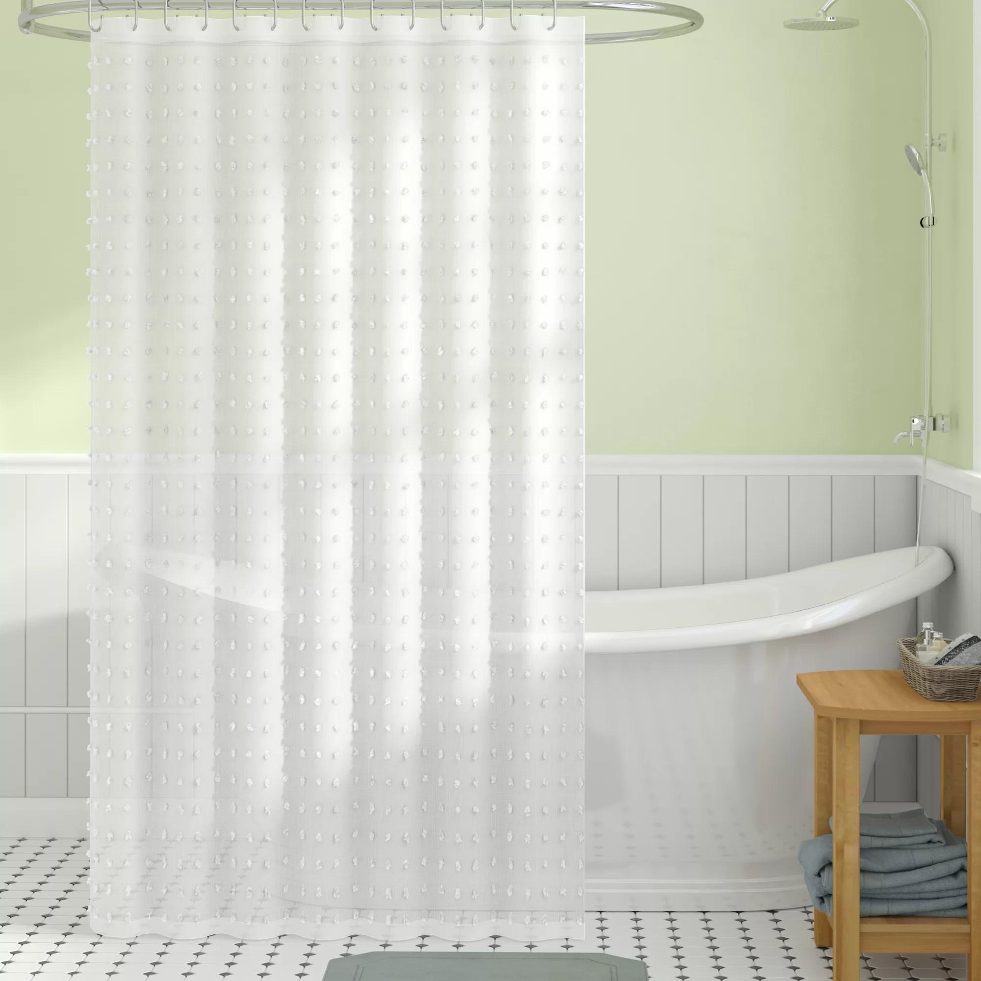 abrahams cut flower linen look fabric single shower curtain