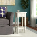 Tall End Side Tables Over 28 In Wayfair