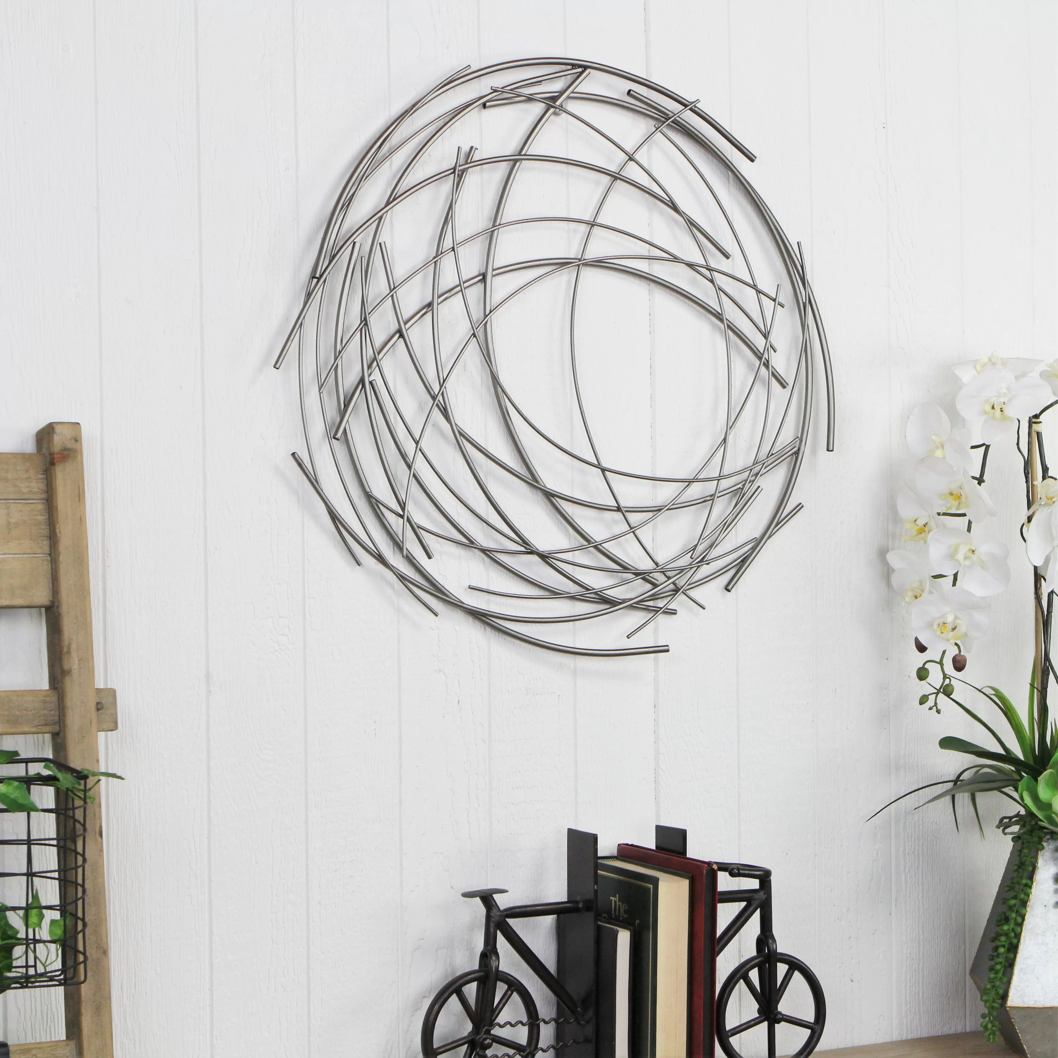 Abstract Geometric Metal Wall Accents Wayfair