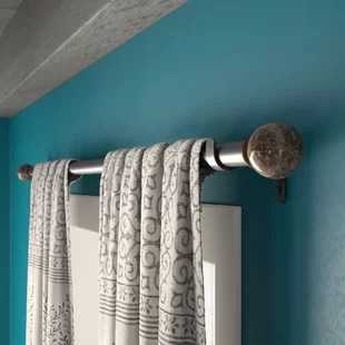 single curtain rods free shipping