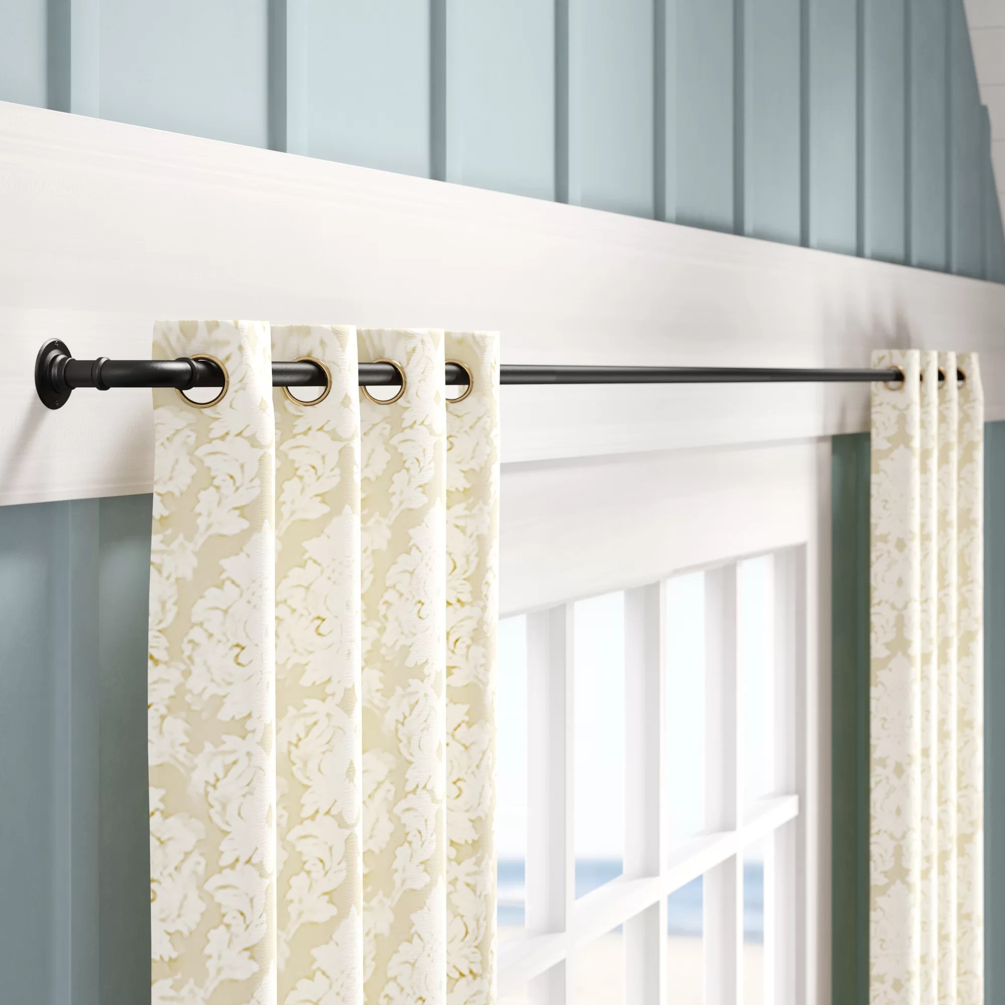 small diameter curtain rods