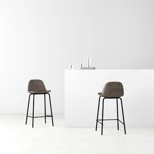 aisha upholstered bar counter stool set of 2