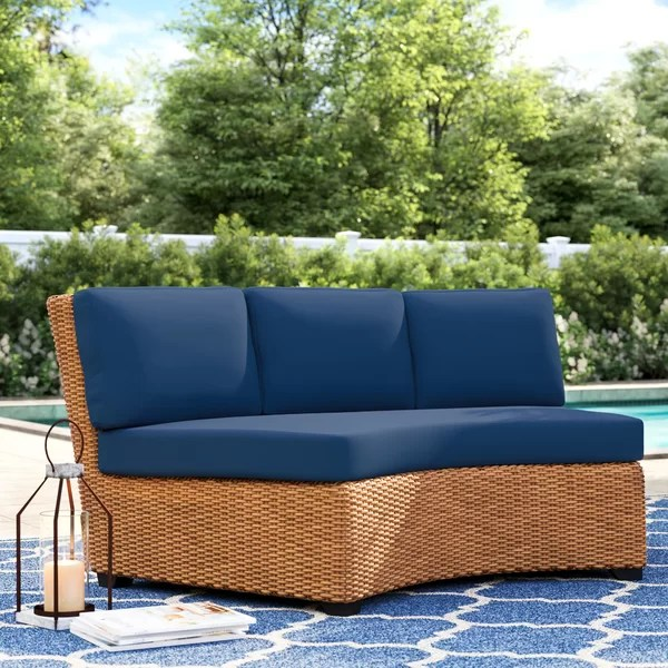 outdoor curved cushion