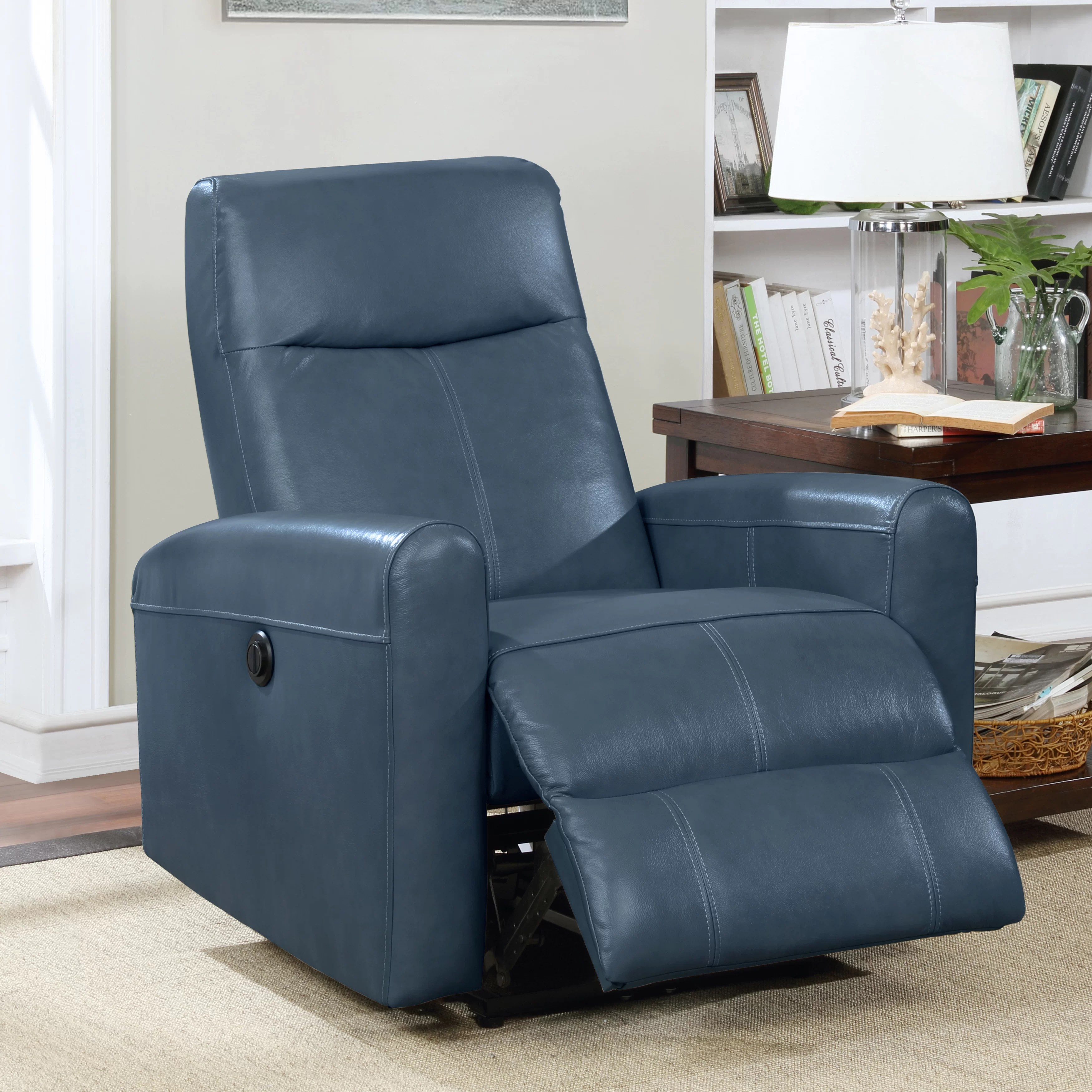 claredon leather gel power wall hugger recliner with massage