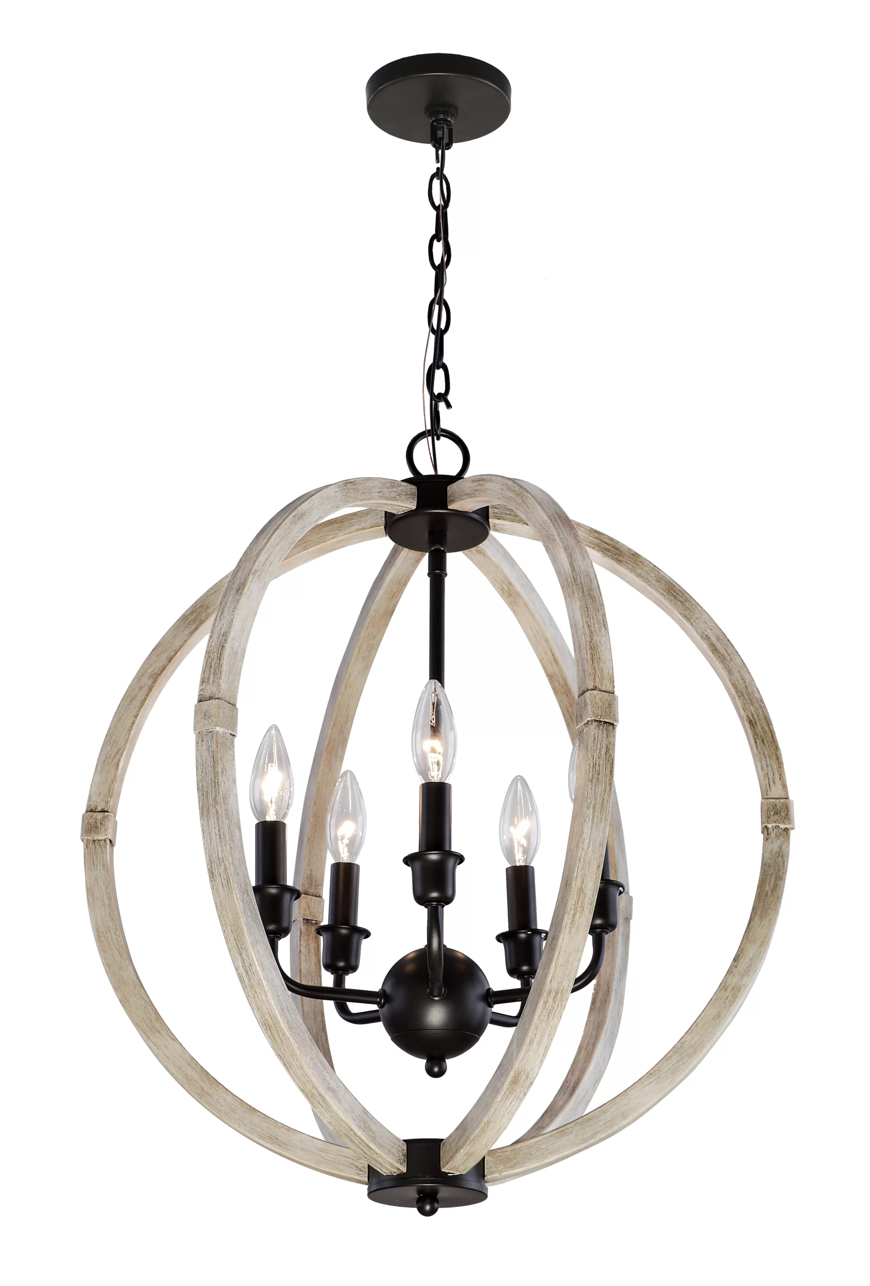 Foundry Select Shelby 5 Light Candle Style Globe Chandelier