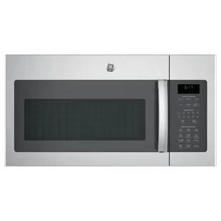 ge appliances 30 1 7 cu ft 1000 watt convertible over the range microwave with sensor cooking