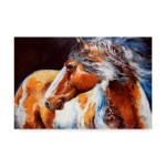 Trademark Art Mohican Indian War Horse Acrylic Painting Print On Wrapped Canvas Reviews
