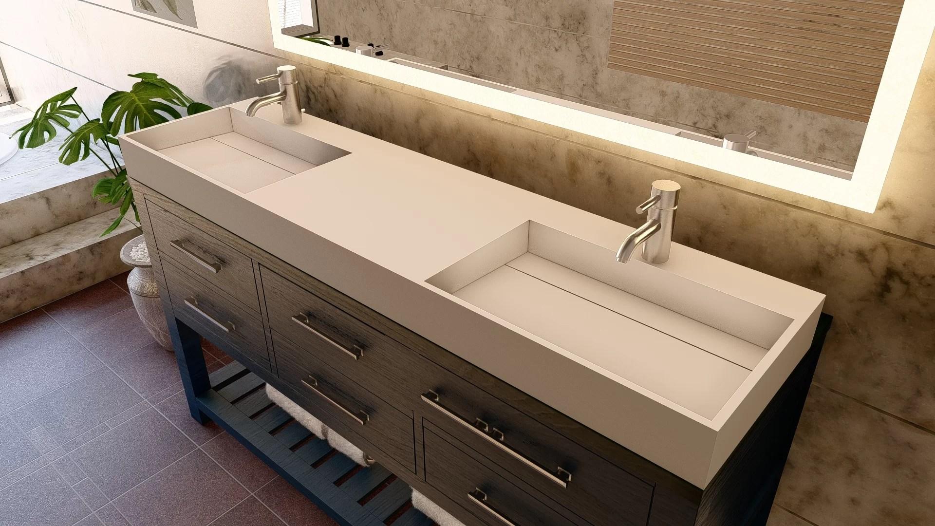 amelia 72 double bathroom vanity top