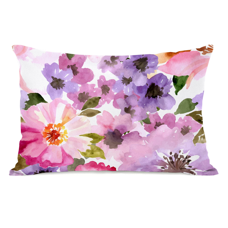 gerber floral outdoor lumbar pillow