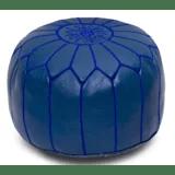 navy blue leather ottoman wayfair