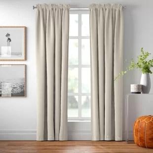 solid blackout rod pocket single curtain panel