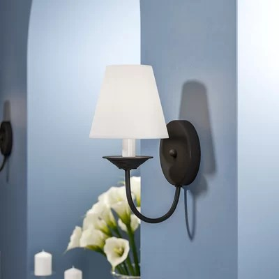 Non Hard Wired Wall Sconce | Wayfair on Non Wired Wall Sconces id=15402