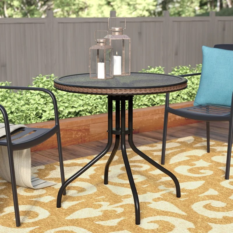 meadowland glass dining table